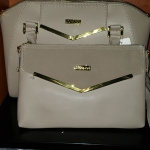 ❤Joy and Iman Couture leather satchel w clutch
